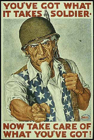 UNCLE SAM POSTER WW2